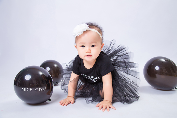黑色芭蕾&气球 - 周岁客照-Jeray.Wang